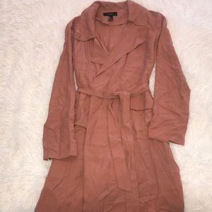 Forever 21 light weight trench coat, in blush.